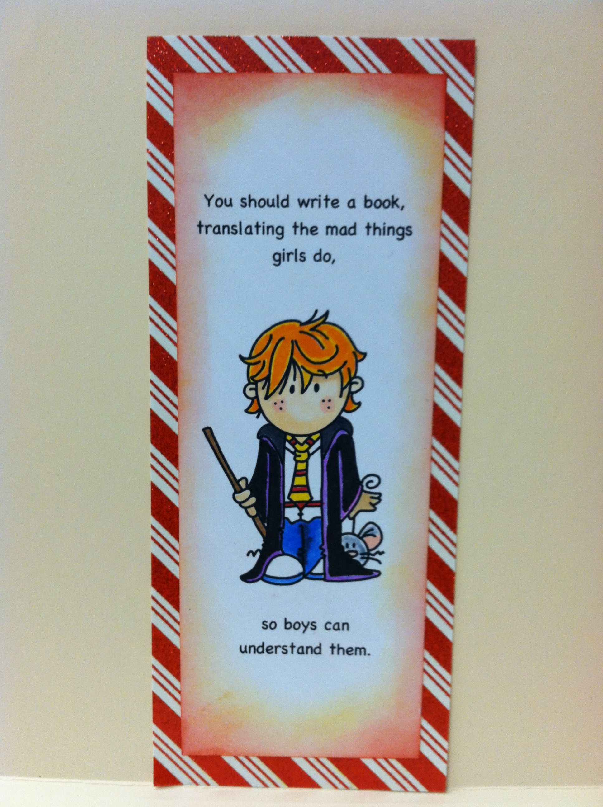 Ron weasley bookmark from cardsbymo harry potter ornaments ron weasley bookmark from cardsbymo bookmarktalkfo Image collections
