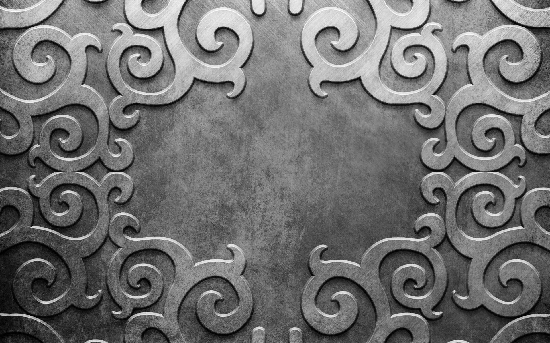 metal patterns lines silver background 1080P