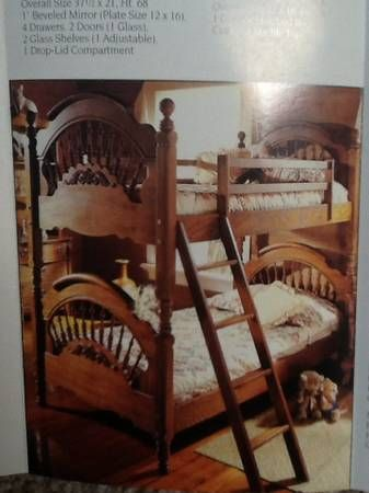 Victorian Sampler Twin Spindle Bunk Beds Furniture I Sell