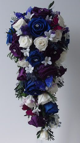 Stunning Wedding Flowers In Blue White And Purple From A Moroccan