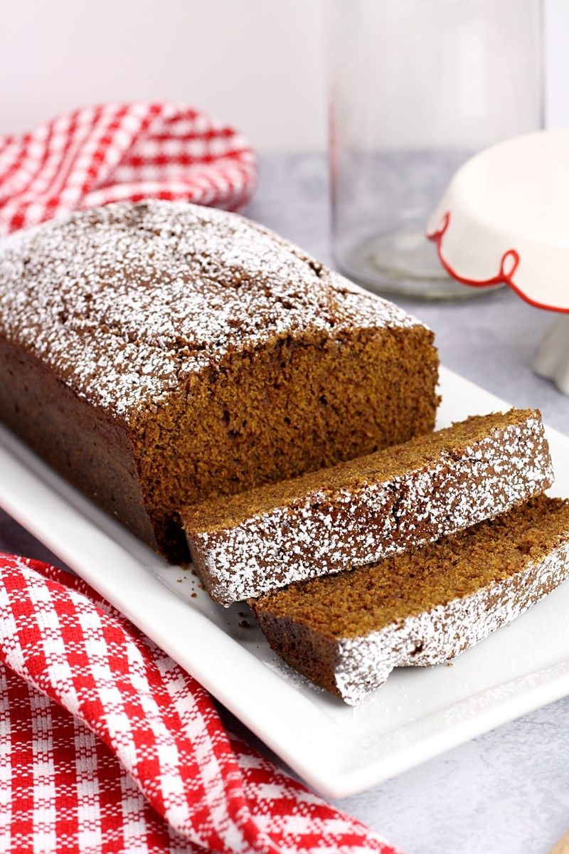 Homemade Gingerbread Loaf is soft, moist, and perfectly
