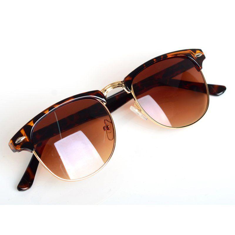 New Fashion Leopard Eyewear Classic Retro Unisex Lunettes De Soleil Women Brand Designer Hommes Lunettes De Soleil Oculos De Sol Feminino 7w1Kd