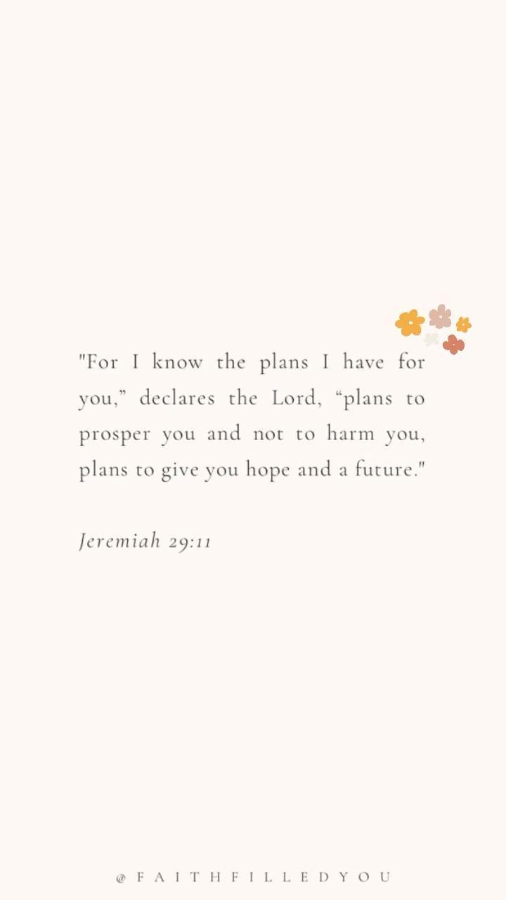 Bible Verses About God's Plan | Jeremiah 29:11