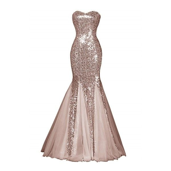 Glamour Sweetheart Sequin Mermaid Long Prom Dress ($79) ❤ liked on ...