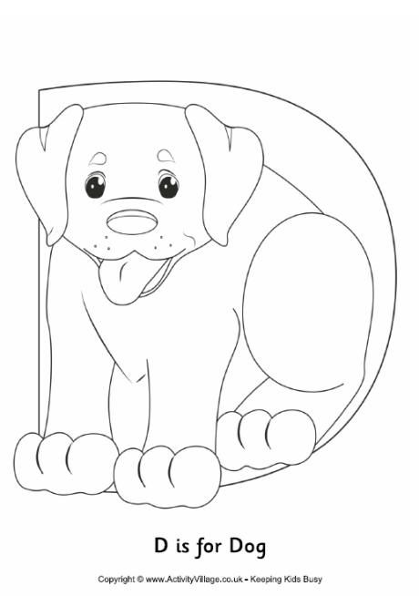 D Is For Dog Colouring Page Atividades Para Pre Escola Pre Escola