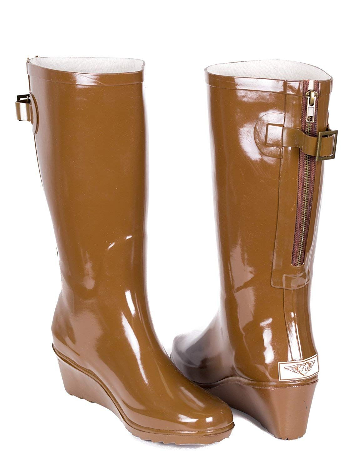 c862eb7757c Women Wedge Rubber Rain Boots by Forever Young ** Continue to the ...