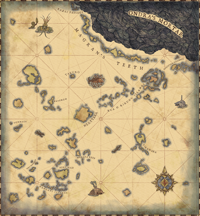 Pillars Of Eternity 2 World Map Deadfire Map (from the scavenger hunt) : projecteternity | Map