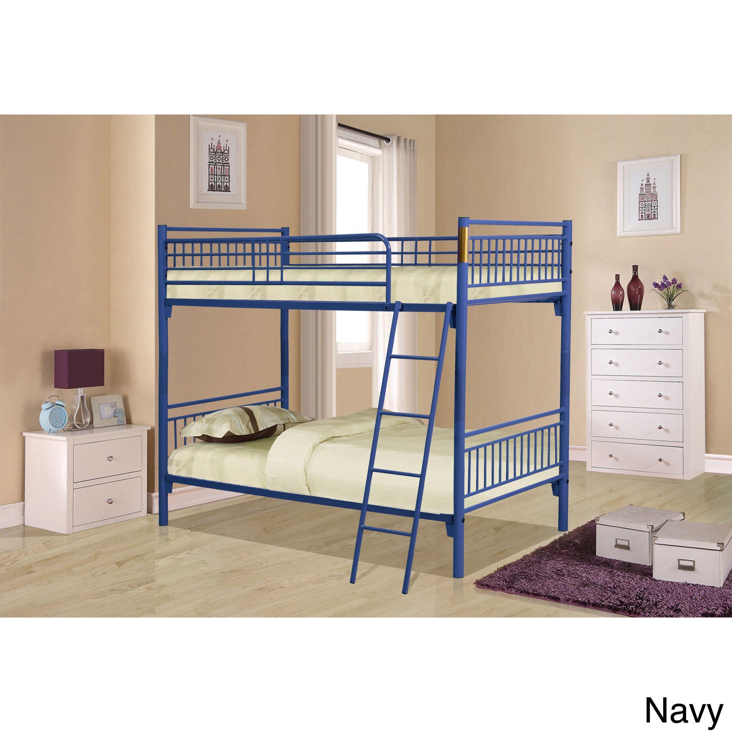 44f0cc7ad8fdd Bella Twin over Twin Metal Bunk Bed (Blue - Blue Finish)