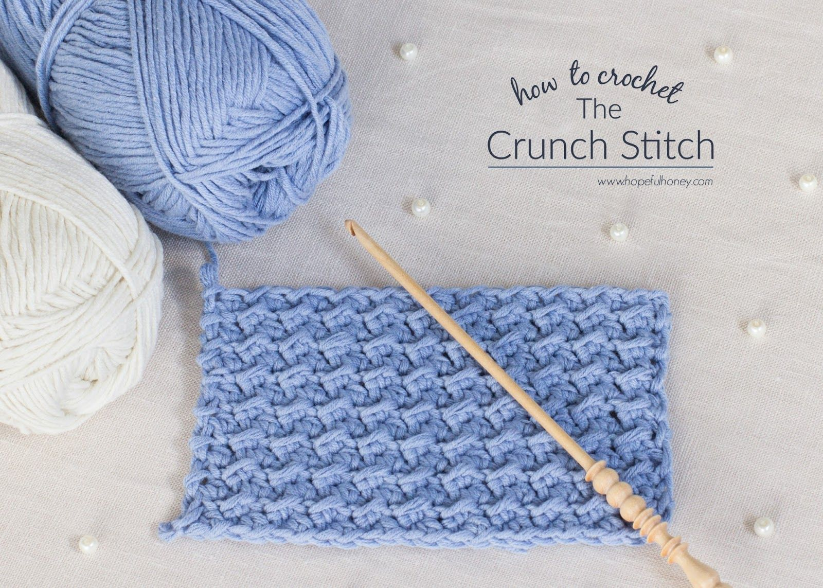 a9b33788e78 How To  Crochet The Crunch Stitch - Easy Tutorial by