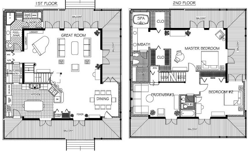 cottage, cabin small country home plans | arqui - floor plans