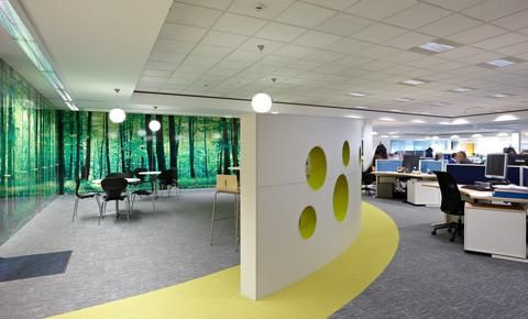 Stunning fit out projects from across the uk office fit outrefurbishmentwall muraloutdoor spacesoffice interiorsdigital printsforestscommercial