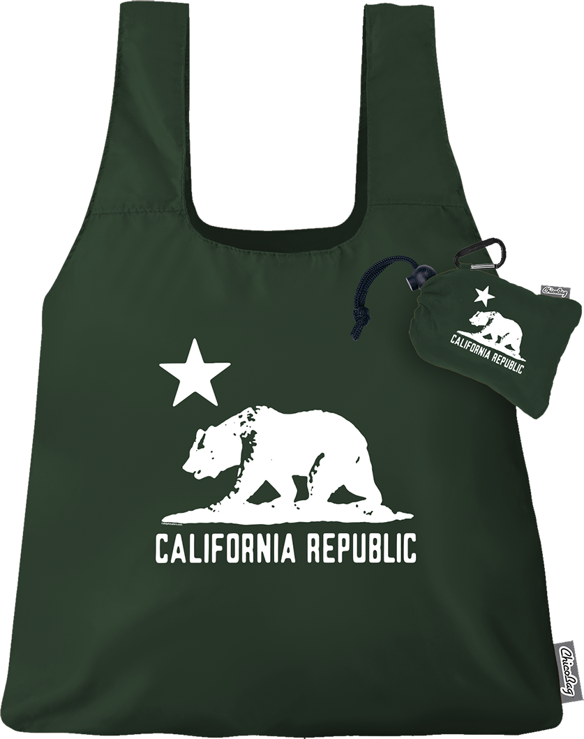 ChicoBag California Republic Collection Reusable Shopping Tote/Grocery Bag Assorted Colors