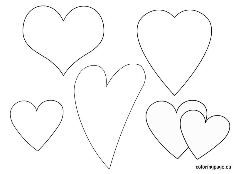 Heart Shaped Templates With Images Heart Shapes Template