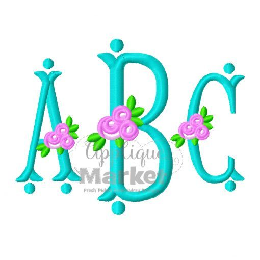 Download Fishtail Rose Monogram Alphabet | Monogram alphabet ...