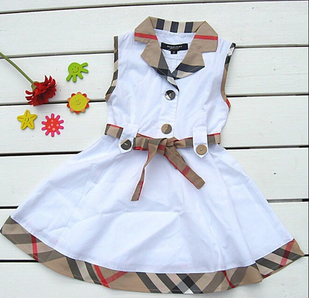 Baby Girls Christmas Red Plaid Princess Dress Bowknot Party Gown
