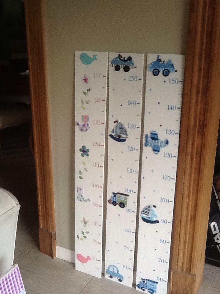 Medidores de altura infantiles medidor pared pinterest - Medidor infantil madera ...
