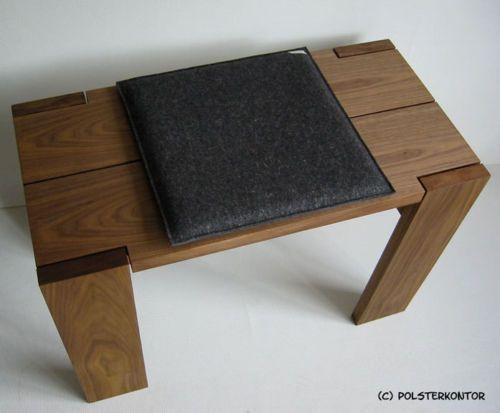 filzkissen sitzkissen kissen bank polster 35x35cm anthrazit schwarz 6 teppich boden bank licht. Black Bedroom Furniture Sets. Home Design Ideas