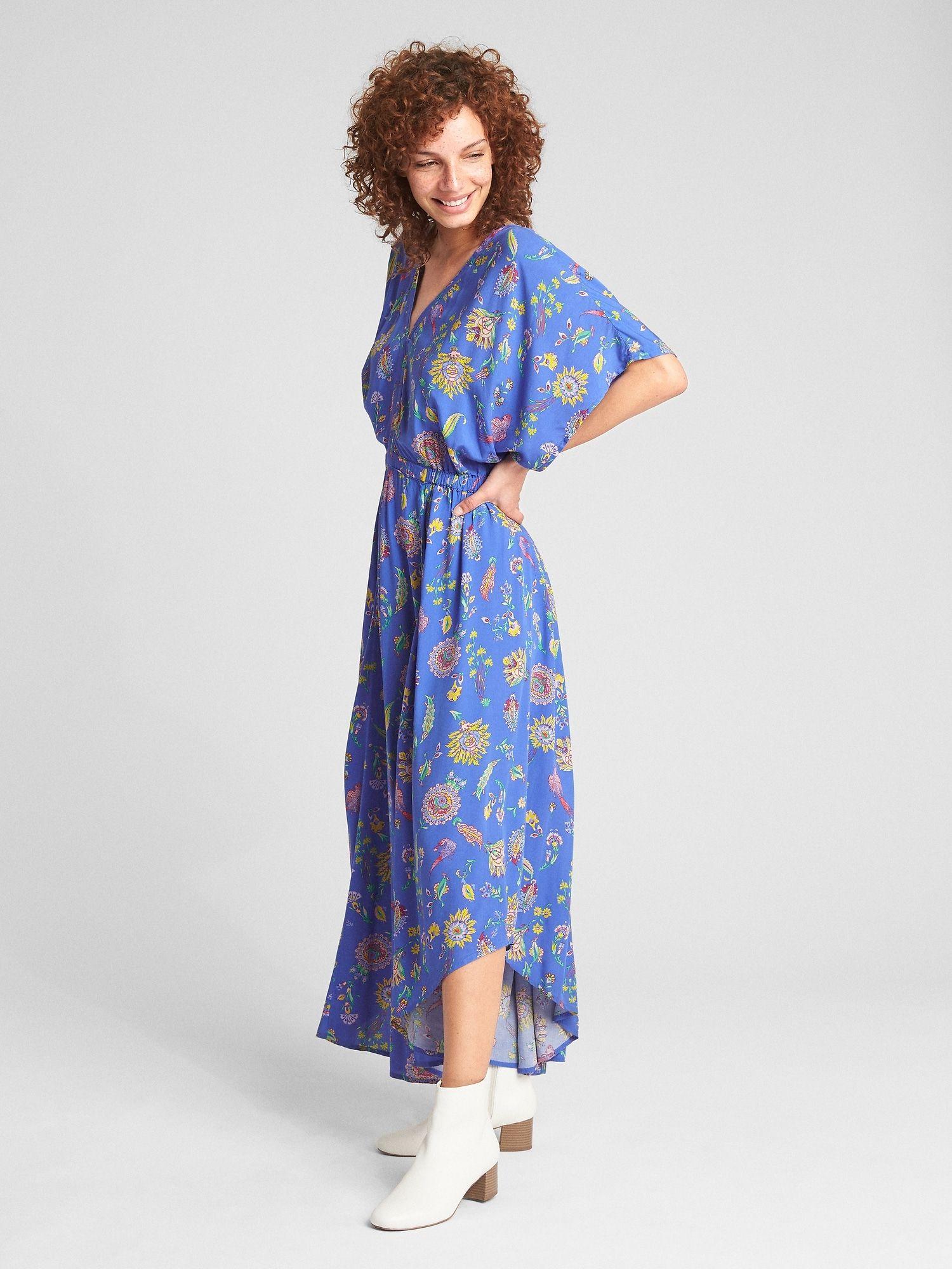 Kimono Sleeve Maxi Dress Gap Summer Maxi Dress Maxi Dress Blue Maxi Dress [ 2000 x 1500 Pixel ]