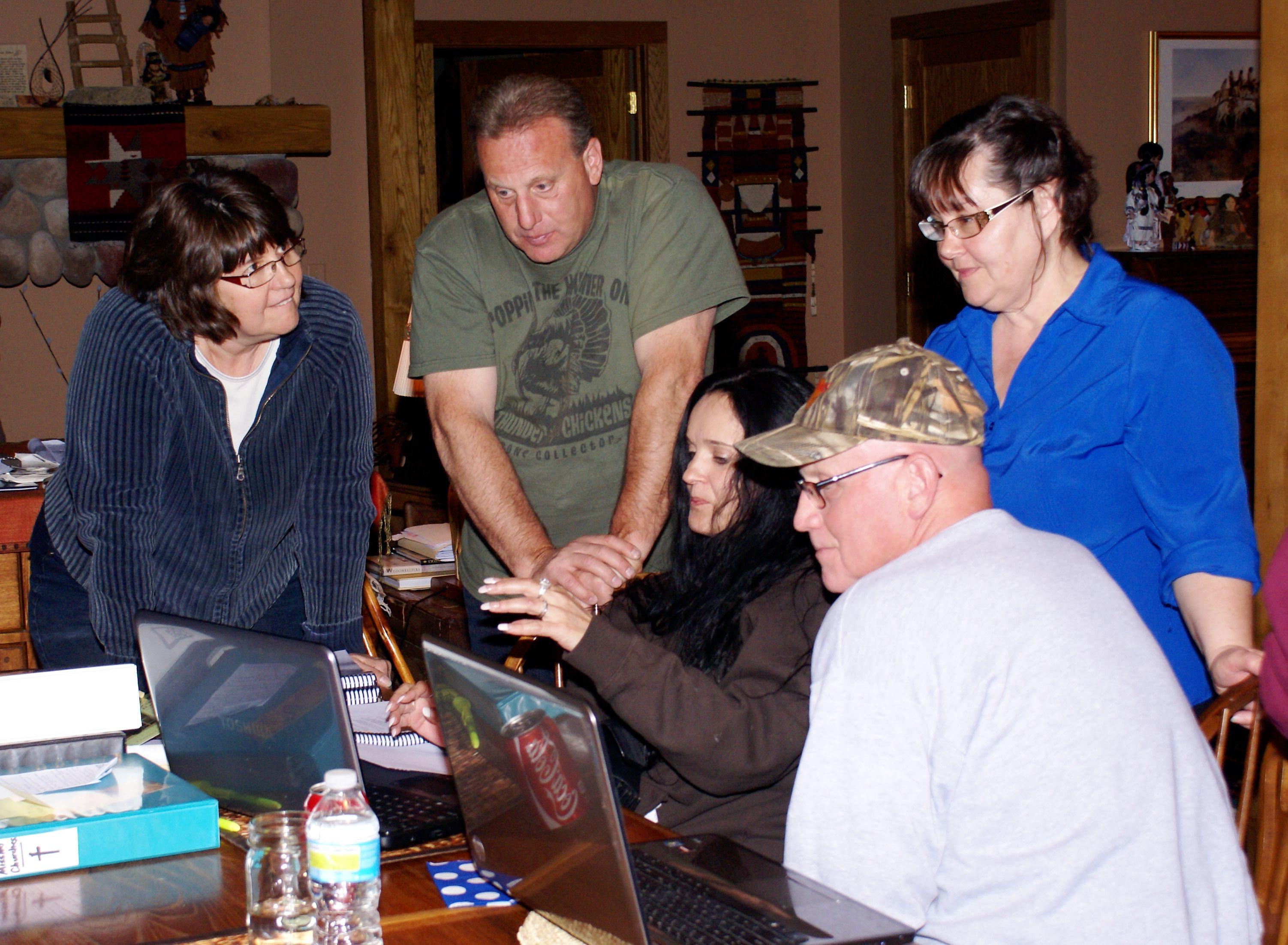 5/13/13 L2R Diane Allen, Terry Allen, Rona Sullivan & Ron Allen (Photo taken by Jim Goodwin)