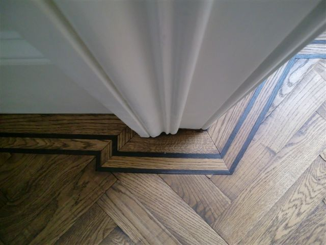 2 Line Wenge Border on #Herringbone pattern design is in the - fliesen bordre