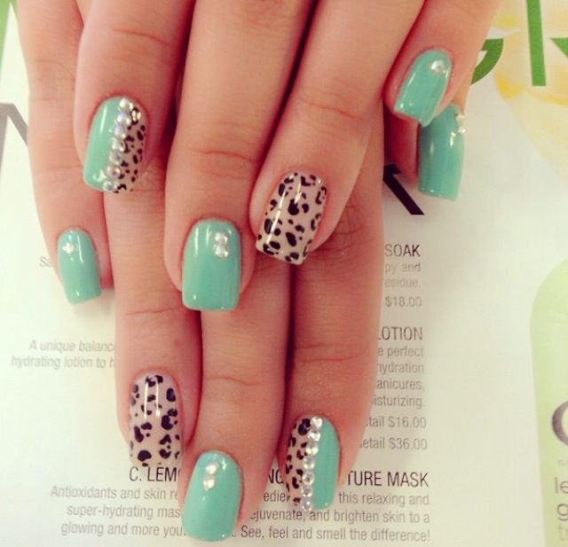 Cute cheetah acrylic nails nail designs pinterest cheetahs cute cheetah acrylic nails prinsesfo Image collections