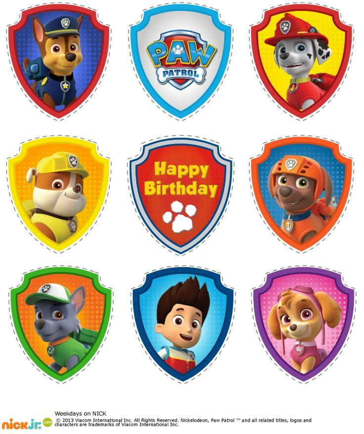 graphic relating to Paw Patrol Printable Decorations titled Pin through Kathyl Jogerst upon Printables inside of 2019 Paw patrol