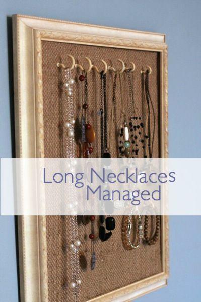 Necklace Holder Diy Jewelry Frame Storage