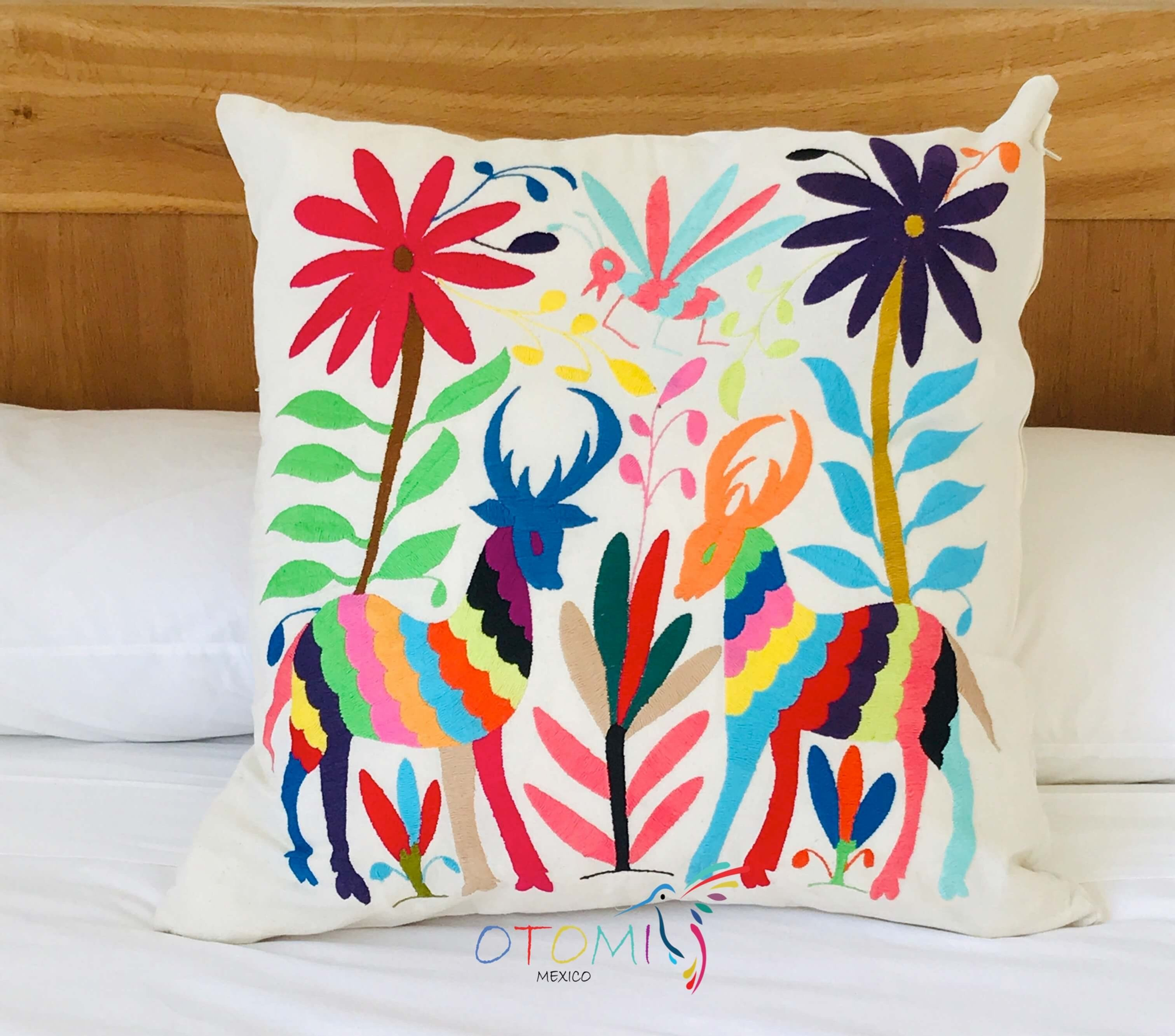 otomi pillow cover flowers otomi