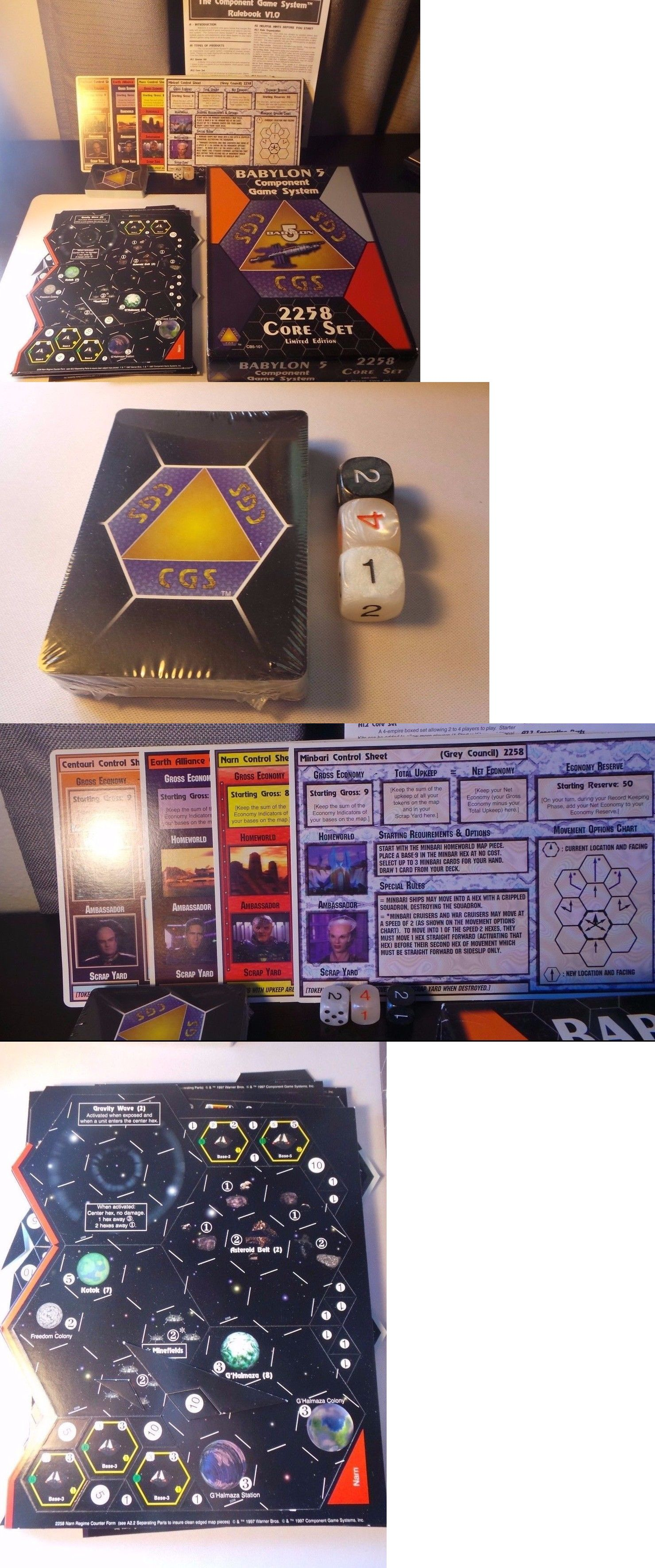 Miniatures, War Games Rare Babylon 5 Limited Edition Component Game Cgs 2258 Core Set Toys & Hobbies