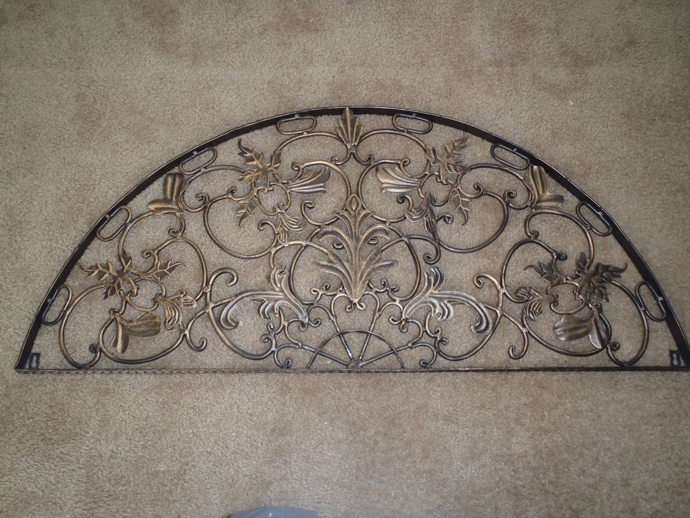 Gentil Half Moon Arch Rustic Architectural Wall Garden Iron Over Door Patio Decor