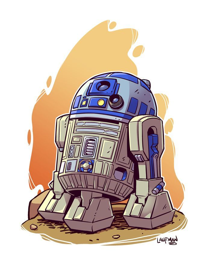 Chibi R2 D2 8 5x11 Print 85x11 Chibi Print R2d2 Star Wars Cartoon Star Wars Poster Star Wars Drawings