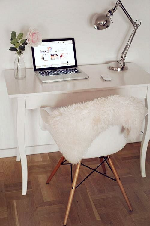 White Desk Small Study