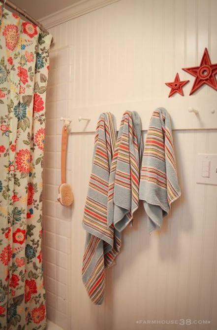 70 Ideas Farmhouse Bathroom Beadboard Towel Hooks For 2019