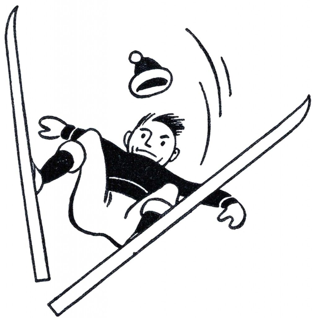 Funny Retro Skiing Clipart Clip Art Vintage Ski Posters Retro Illustration