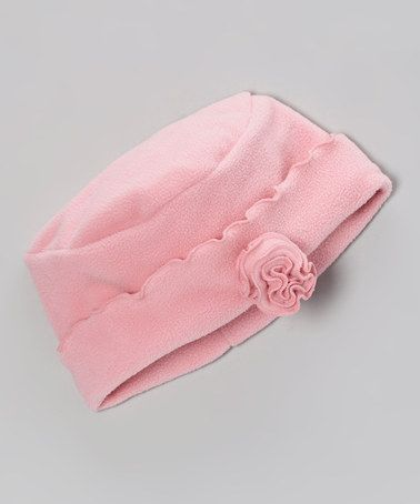 897b321315a Take a look at this Rose Pink Rosette Beanie by Mack   Co on  zulily today!