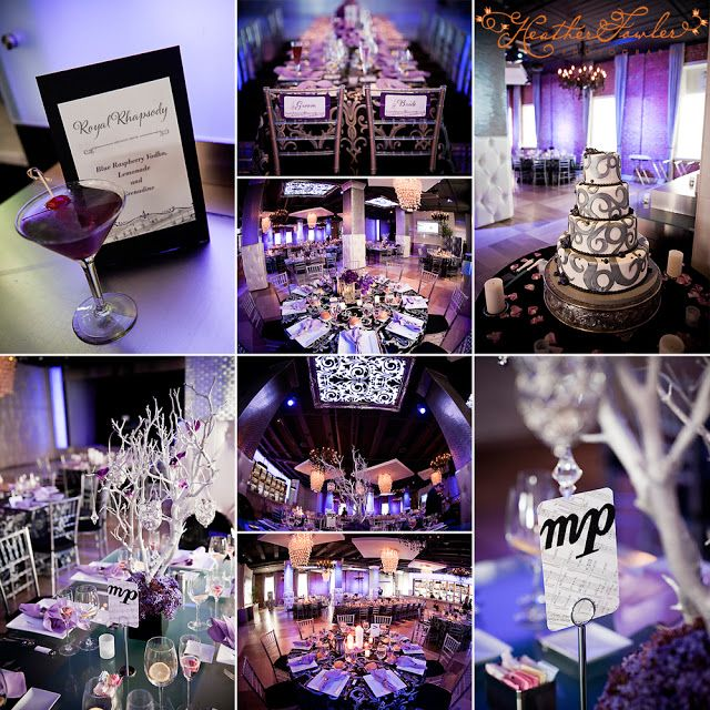 Gorgeous Details At Tendenza Music Theme Wedding Reception Floral