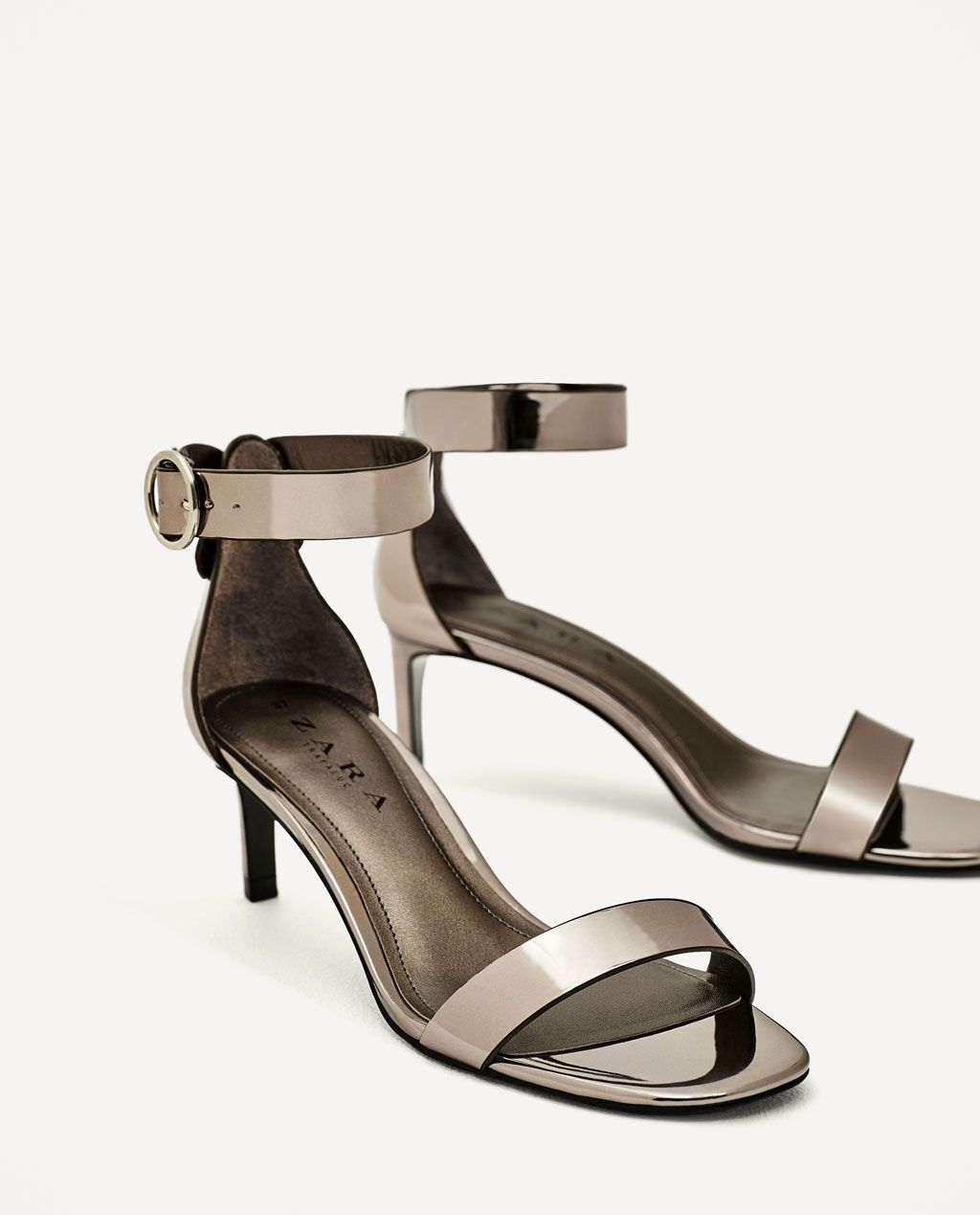 a8e37e10460 ZARA - SALE - MEDIUM-HEELED SANDAL WITH BUCKLE