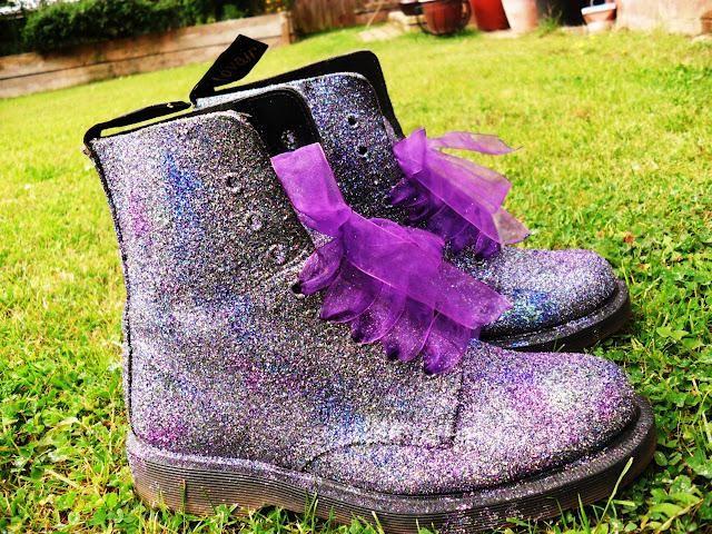 sparkly purple doc martens