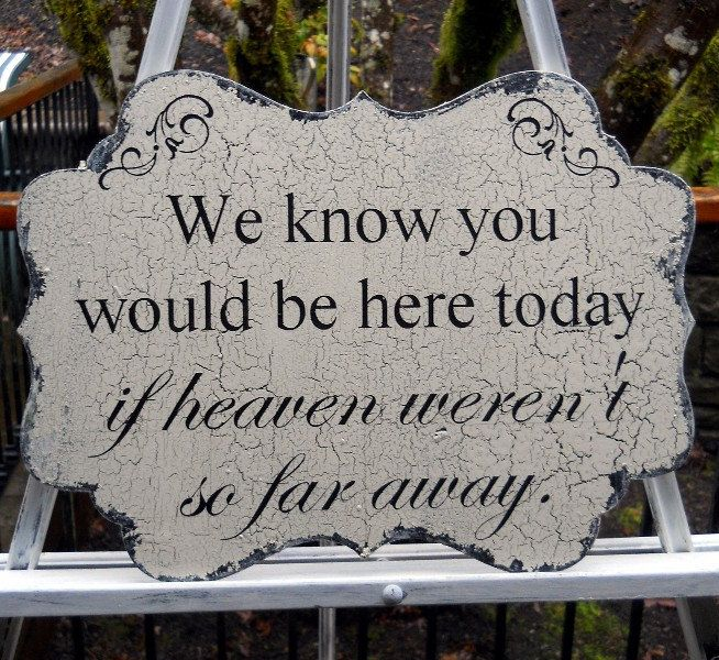 Wedding Decor Signs Impressive We Know You Would Be Here Todaywedding Table Decor Sign Review