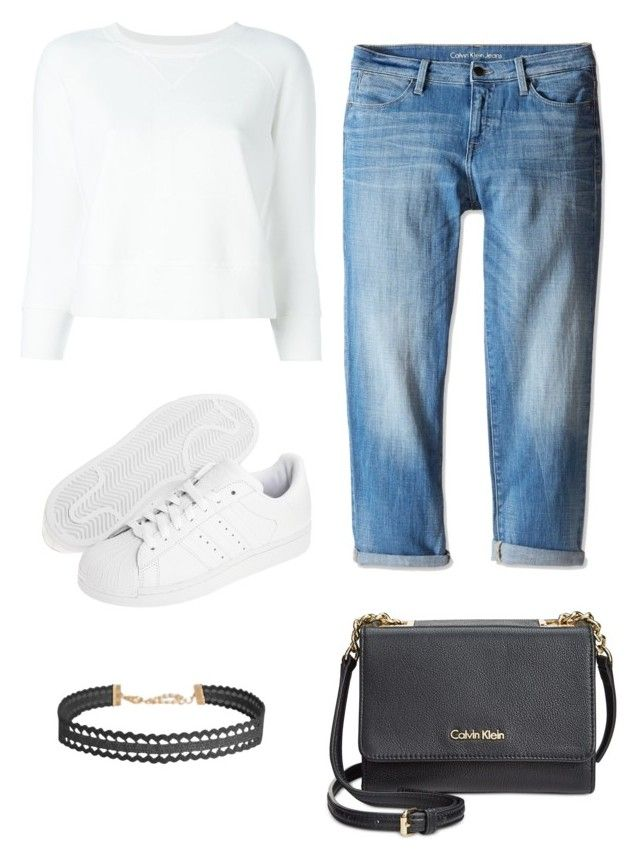 """T/S"" by rita-malakyan ❤ liked on Polyvore featuring Calvin Klein Jeans, adidas Originals, Humble Chic and Calvin Klein"