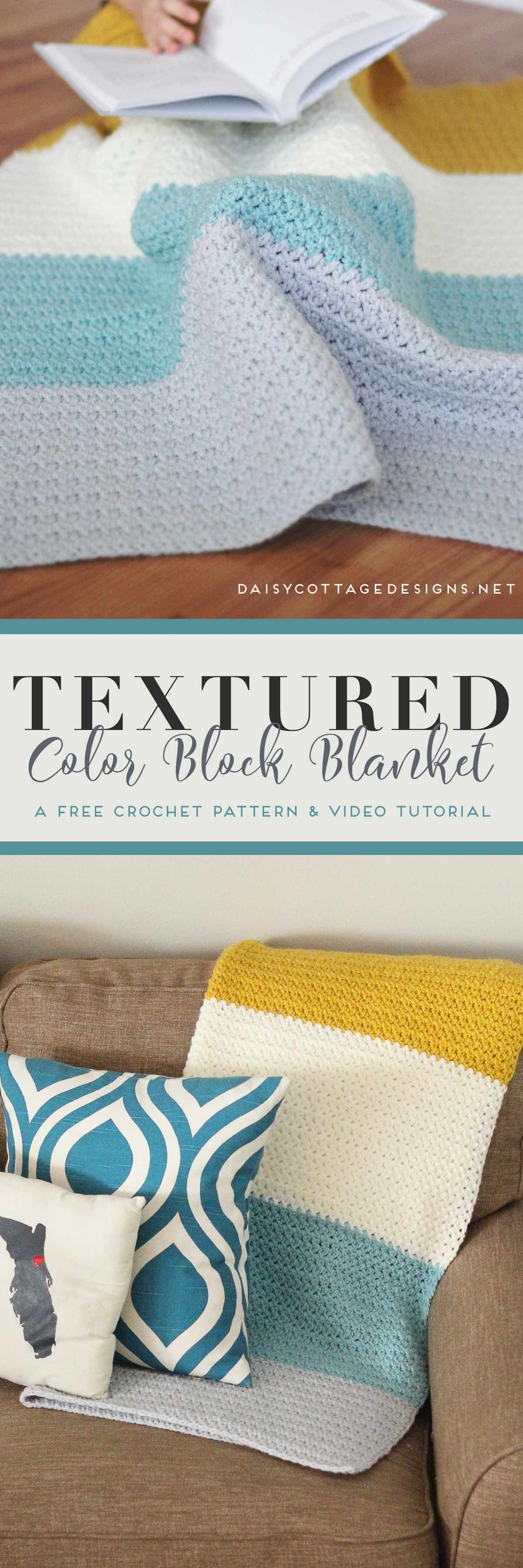 Color Block Blanket Crochet Pattern | Manta, Ganchillo y Colchas