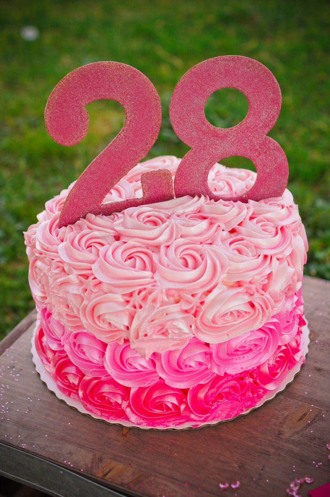 28 Pink Birthday 28th Cake Smash Photoshoot Photo Shoot