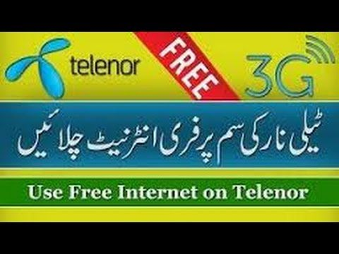 How To Use Free 3g Internet On Telenor Sim 100 Working New Trick
