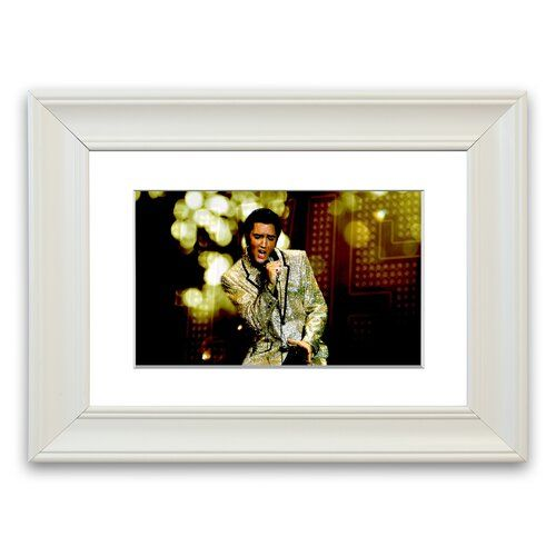 Elvis Presley 68 Special' gerahmter Fotodruck East Urban Home Größe 30 cm H x 40 cm B x H x 40 cm B, Rahmenoptionen Mattweiß Gallery