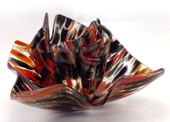 Vase Candle Limited Edition  Red and Black Glass by VaseCandle