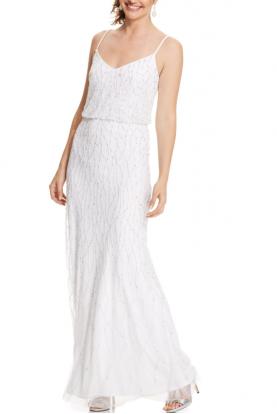 Designer Adrianna Papell Dresses Beaded Maxi Dress Beaded Prom Dress Beaded Formal Dress