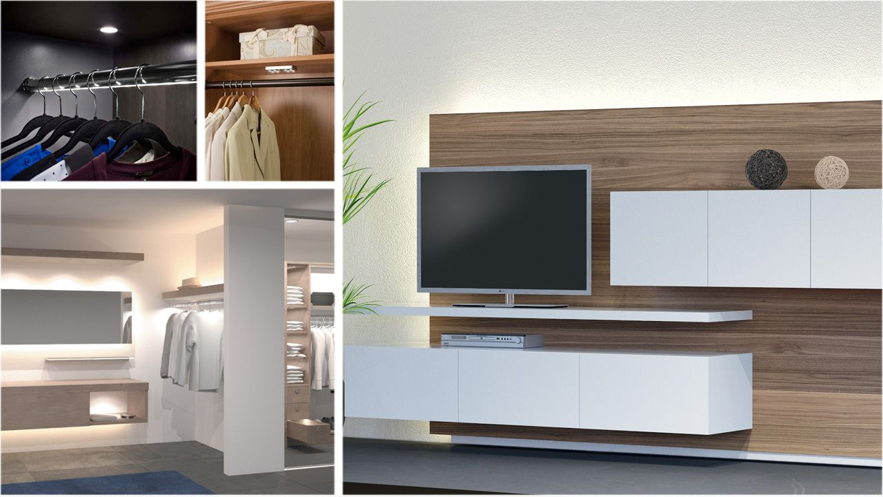Led Lighting Is A Great Choice For Home And Closet Spaces Led  # Muebles Bobrick