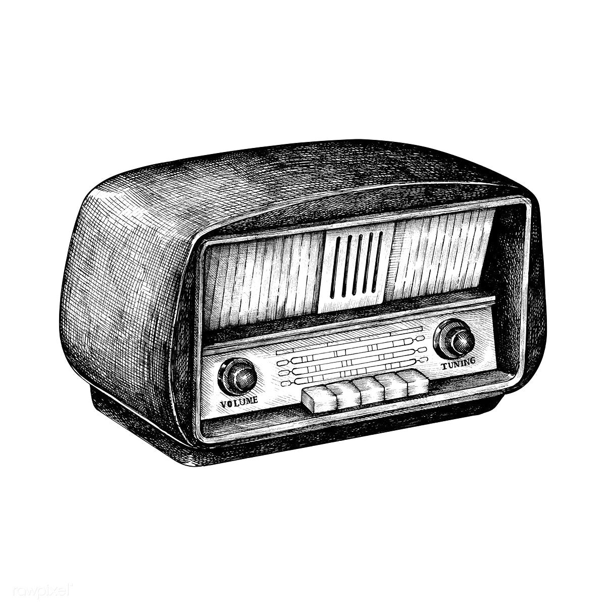 Download Premium Vector Of Hand Drawn Retro Radio Isolated On Background Radio Drawing Ink Pen Drawings Vintage Drawing