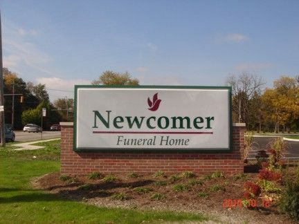 Newcomer Funeral Home Monument Sign Louisville Ky Signs