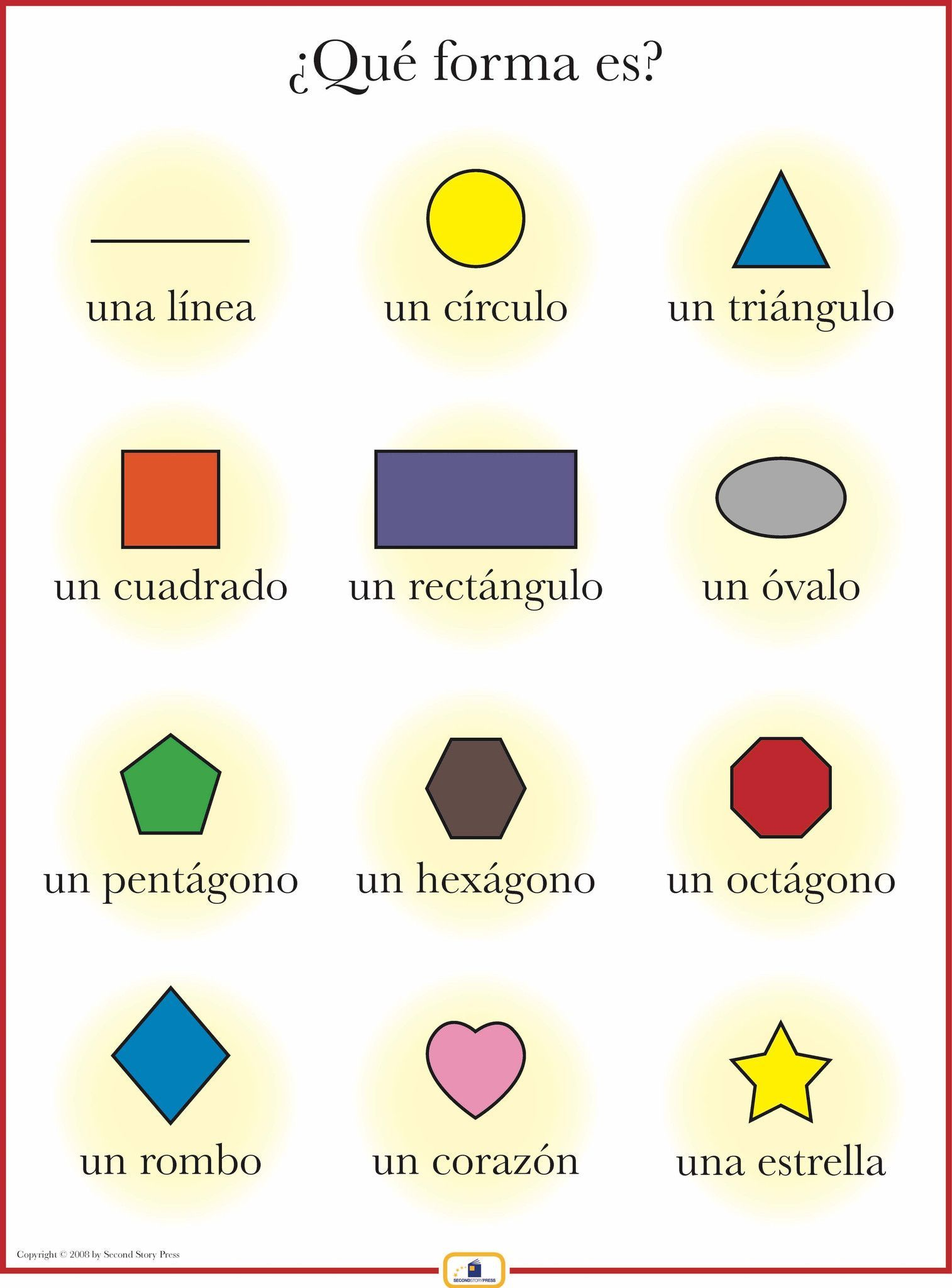 Free spanish printables and montessori inspired spanish color spanish shapes poster robcynllc Image collections